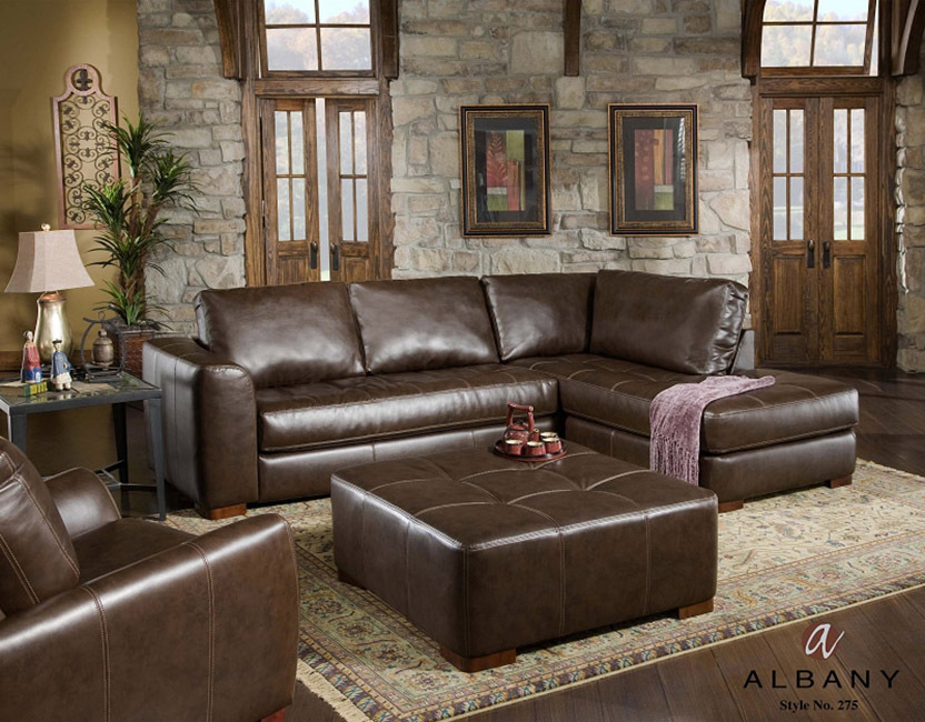 Bounded Leather Sectional