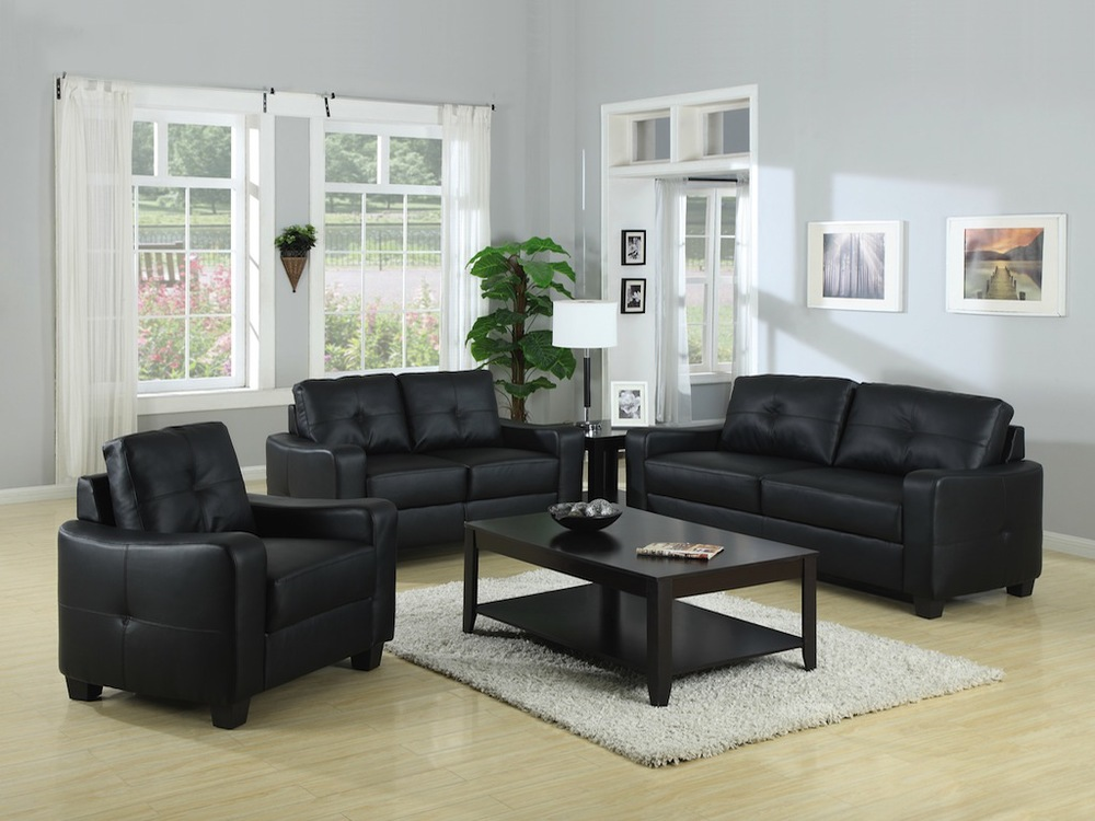 Alto sofa or loveseat in black